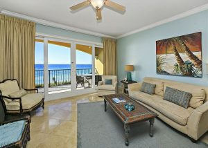 Living room of oceanfront unit