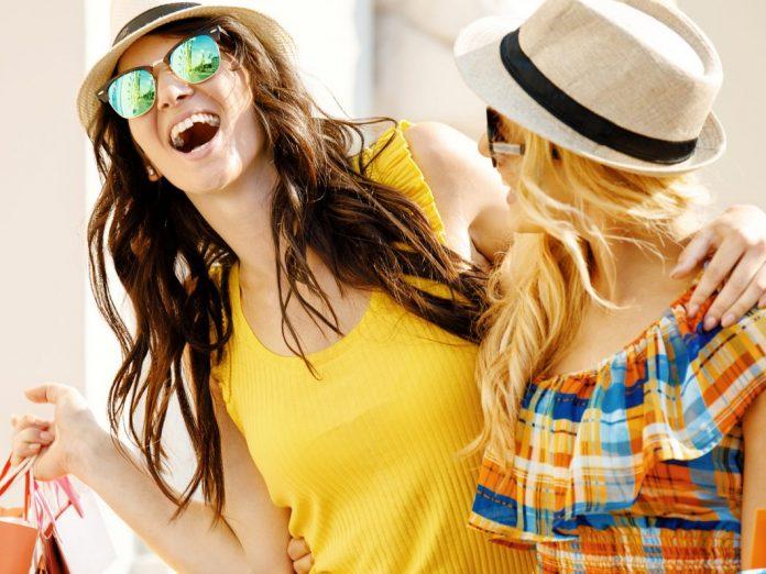 Beautiful Women enjoying 30A Shopping