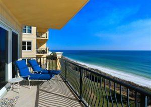 Adagio balcony overlooking the ocean