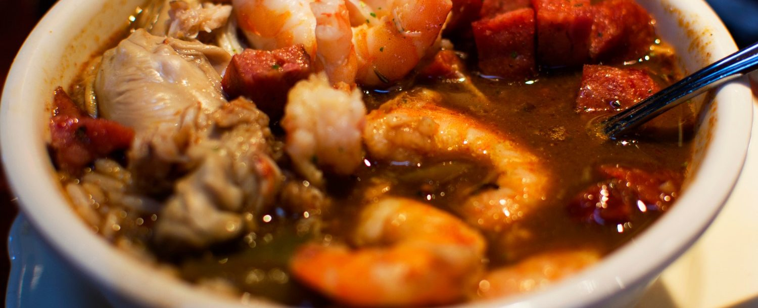 close up of a gumbo plate for the Sandestin Gumbo Festival