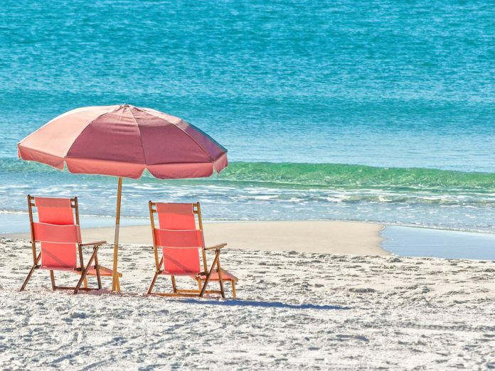 Pink Beach Chair Rentals on 30A