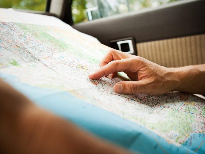 Close up road map | Macon, GA, to Destin and Santa Rosa Beach